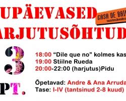 23.09 alustavad Laupäevased Harjutusõhtud