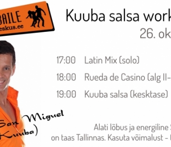 26.10 Kuuba salsa workshop Migueliga