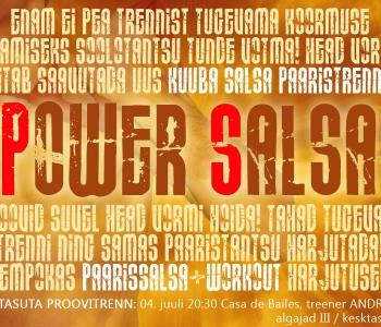 UUS! Power Salsa alates 04.07